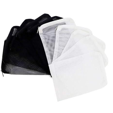 Xelparuc - Bolsas de Filtro de Acuario reciclables para carbón Activado, biosferas, cerámica (