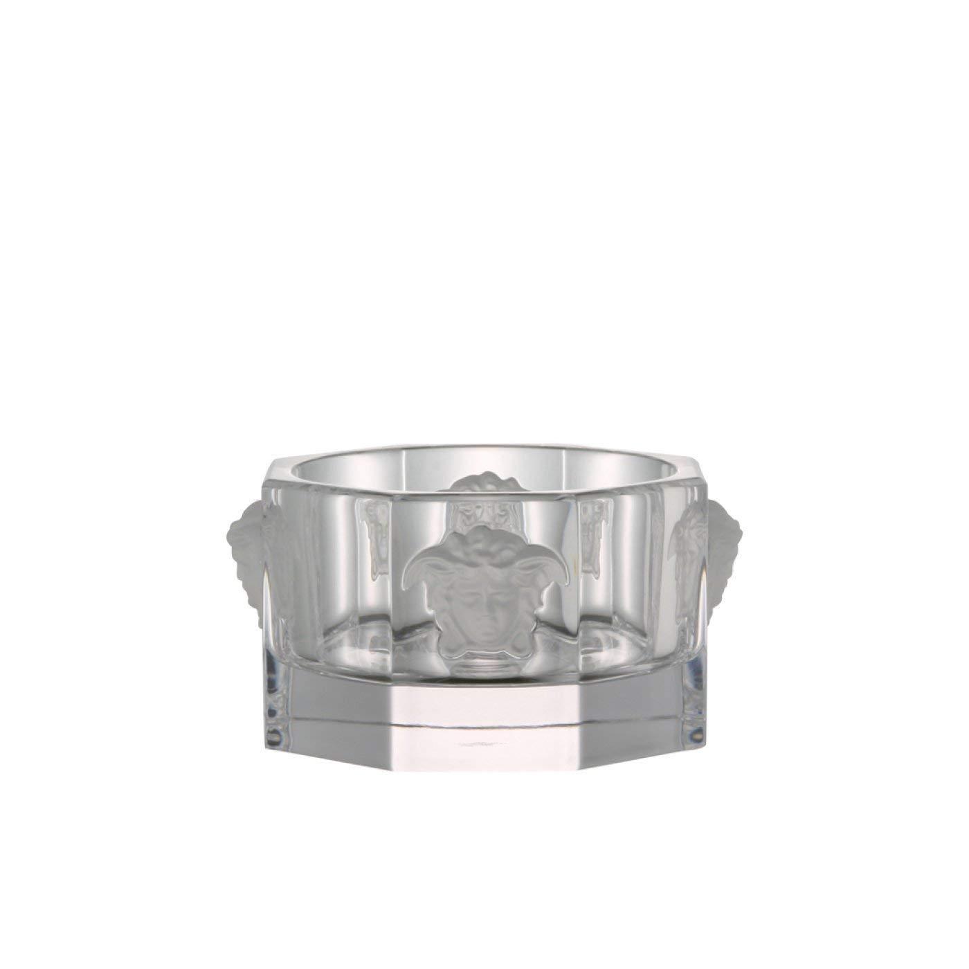 Rosenthal Versace Bottle Coaster Medusa Lumiere Luxurious Clear Crystal Coaster