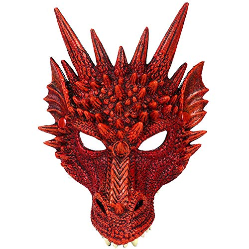 H&ZY Kids Fantasy Halloween Dinosaurio Dragon Costume Child Animal Mask Wing Tail Accessory ()