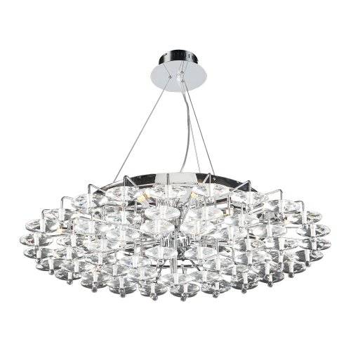PLC Lighting 96987 PC 18-Light Chandelier Diamente -