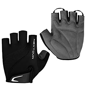 NEXTOUR Cycling Gloves Mountain Bike Gloves Bicycle Half Finger Road Riding Gloves with Shock-absorbing Pad Biking Gloves for Men and Women