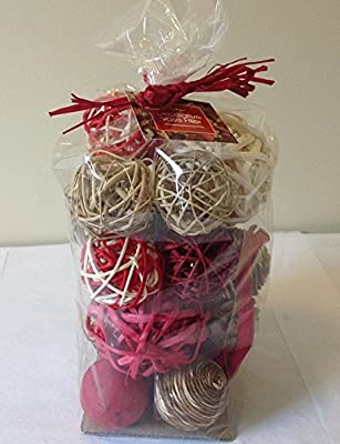 Jodhpuri Inc. Decorative Spheres (Red) Rattan Vase Filler