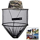 LHKJ Camouflage Mosquito Hat, Beekeeping Beekeeper Anti-Mosquito Bee Bug Insect Fly Mask Cap Hat with Head Net Mesh Face…