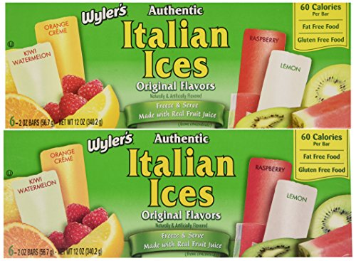 Wyler's Authentic Italian Ice Freezer Bars, 6-Count (Pack of 4) by Wyler's