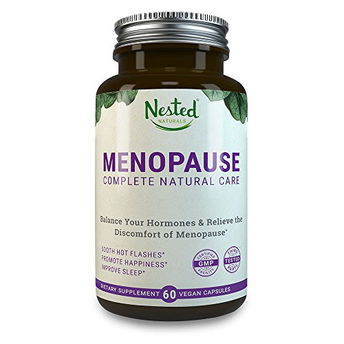MENOPAUSE CARE Complete Complex | 60 Vegan Capsules | Naturally Sourced Black Cohosh Extract 40mg & Dong Quai Root | Mood Swings & Hot Flashes Relief Linked to Menopause | One A Day Womens Supplements
