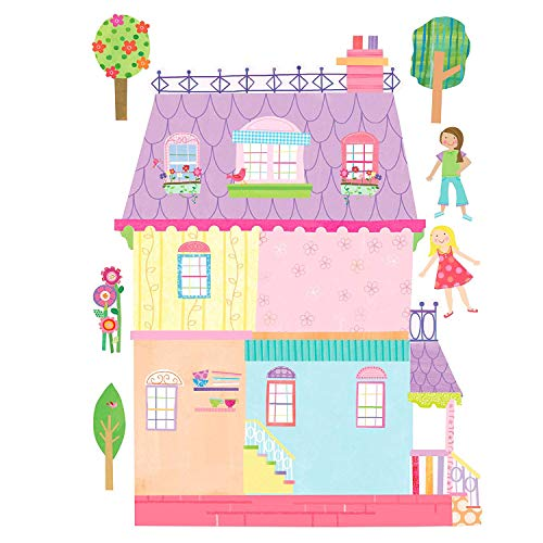 Wallies Vinyl Wall Decals, Peel and Stick Doll House Stickers for Girl's Bedrooms and Playrooms, 31 Pc