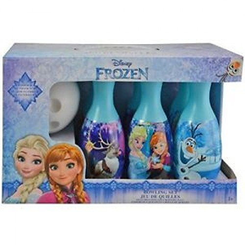 Disney Frozen Bowling Set Elsa Anna Olaf Princess Toy Ball Pins Blue Bonus 2 balls by What Kids Want