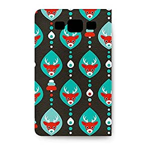 Leather Folio Phone Case For Samsung Galaxy S3 Leather Folio - Reindeer Christmas Baubles Leather Stand