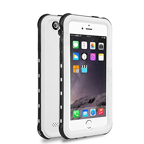 iPhone 5 5S SE Waterproof Case, IP68 Certified Waterproof Shockproof Dirtproof Snowproof Heavy Duty Protective Cover, Full Sealed Case with Built-in Screen Protector for iPhone 5 5S SE (White)