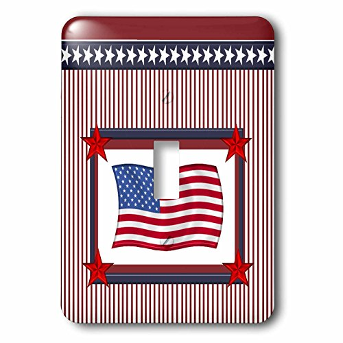 3d Rose 3dRose lsp_212777_1 American Flag in Frame of Sta...