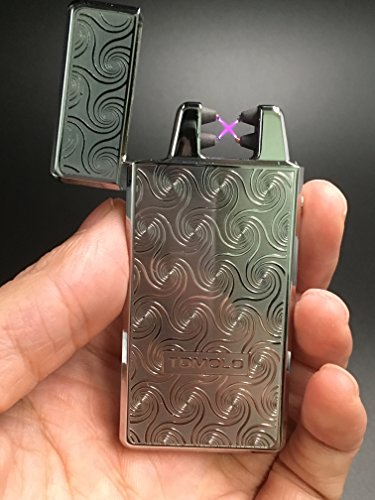 Tomolo Double Electronic Arc Lighter Windproof Flameless