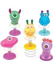 Baker Ross Figuras saltarinas de 6 monstruos unisex (Paquete de 6) Regalos infantiles para bolsas de cotillón