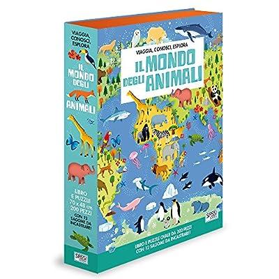Il Mondo Degli Animali Viaggia Conosci Esplora Ediz A Colori Con Puzzle Turtleback 11 Mag 2017