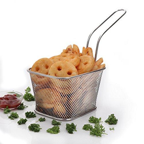 Urban Snackers Fish Basket Deep/French Fry Basket Stainless Steel Fryer Basket Strainer Serving Food Presentation Chips...