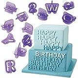 YOYOSTORE 40pcs Alphabet Number Character Letter Fondant Cake Decorating Set Icing Cutter Mold Mould