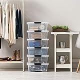 IRIS USA 27 Qt Clear Plastic Storage Box with
