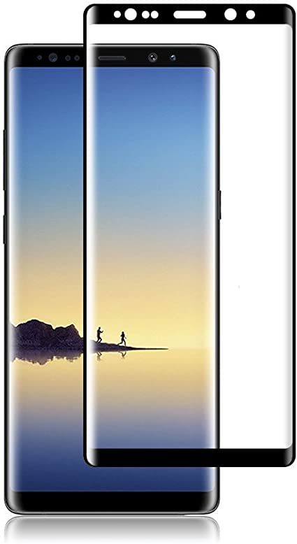 Anti-Dirty Case Friendly Glass Protector for Samsung Galaxy Note 8 3D Full Edge Covered 2-Pack HD Galaxy Note 8 Screen Protector,Tempered Glass for Samsung Galaxy Note 8 9H Hardness