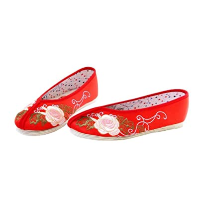 Artisanat Mules en Soie Chaussures Femme Confortables Mocassin Ballerines #104