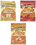 Honey Stinger GLUTEN FREE Waffle Variety Sampler Pack, 12 waffles, 4 Salted Caramel, 4 Wildflower (New Flavor), 4 Cinnamon