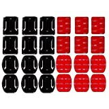 SUNMENCO 24pcs Helmet 3M Adhesive Pads VHB Stickers Flat Curved Surface Base Mount Action Camera Accessories Kits for GoPro Hero 6 5 4 xiao mi yi AKASO Sony Sports dvr
