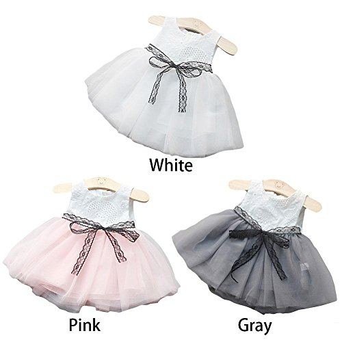 Dress Girls' Gray Girl Girl ZHUOTOP White Tulle Baby 5zwqHXv
