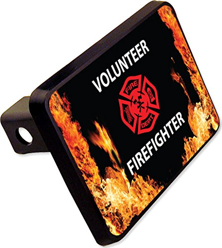 VOLUNTEER FIREFIGHTER Trailer Hitch Cover Plug Novelty cheapyardsigns