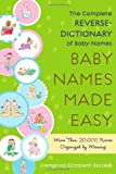 Baby Names Made Easy, Amanda Elizabeth Barden, 141656747X