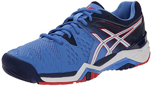 Asics Women's GEL-Resolution 6 Tennis Shoe - Powder Blue/...