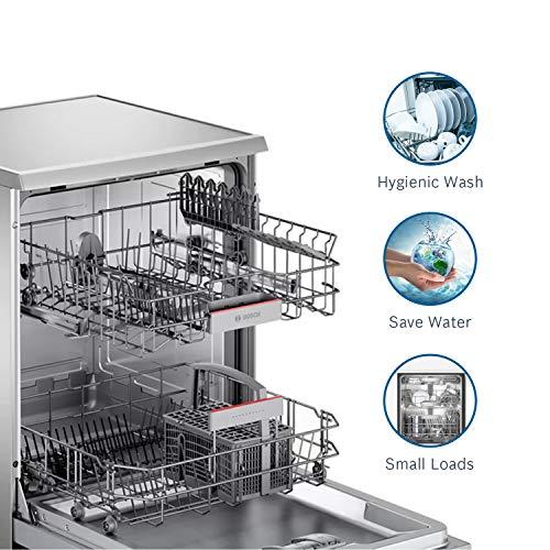 Bosch 12 Place Settings Dishwasher (SMS66GI01I, Silver Inox)