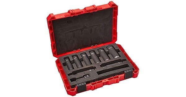 negro llave de impacto de aire Llave de vaso de impacto universal BE-TOOL de 1//2 pulgada 6 puntos llave de impacto neum/ática para llave de impacto el/éctrica paquete de 1 32 mm 8
