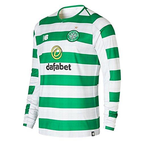- New Balance 2018-2019 Celtic Home Long Sleeve Football Soccer T-Shirt Jersey