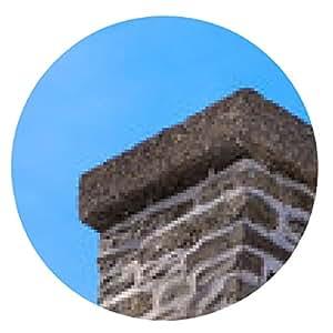 alfombrilla de ratón Ladrillo y mortero de la chimenea en el cielo azul. - ronda - 20cm