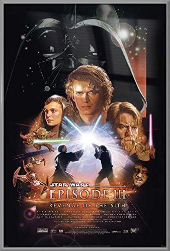 Amazon Com Star Wars Episode Iii Revenge Of The Sith Framed Movie Poster Print Regular Style Size 24 Inches X 36 Inches Posters Prints