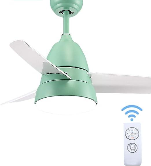 Ventilador de techo ZHAOSHUNLI Atenuación de luz Restaurante ...