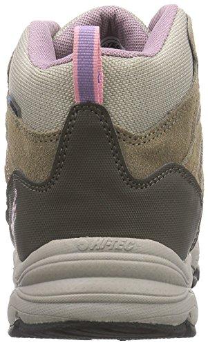 Hi-Tec Alto II Mid WP W' - botas de senderismo de cuero mujer marrón - Braun (Lt Taupe/Grey/Horizone 041)