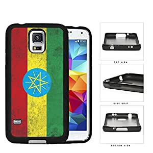Ethiopia Flag Red Yellow and Green Grunge Hard Rubber TPU Phone Case Cover Samsung Galaxy S5 I9600