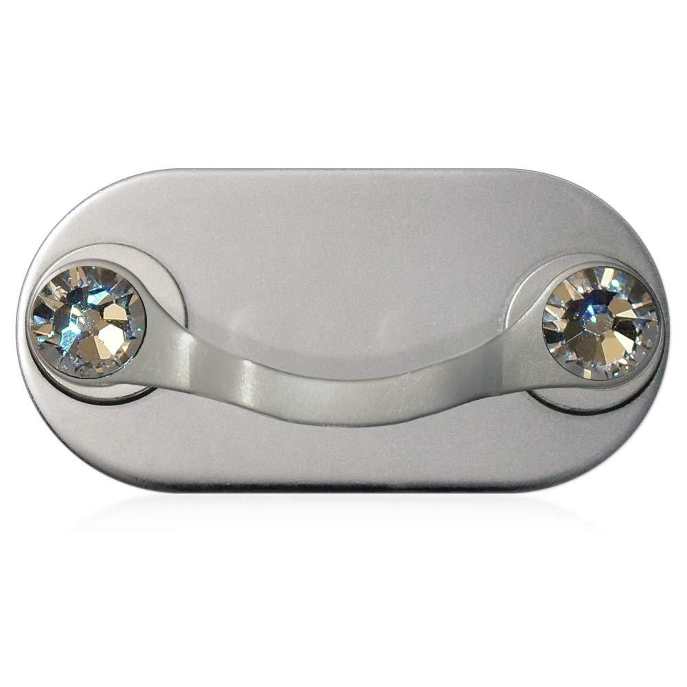 MAG-B porta occhiali magnetico (acciaio inossidabile lucido con cristalli originali di Swarovski) Nikola Markovic und Stefan Wasserthal GbR