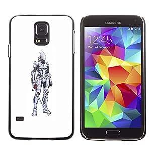 SKCASE Center / Funda Carcasa - Medieval blanca Lápiz;;;;;;;; - Samsung Galaxy S5