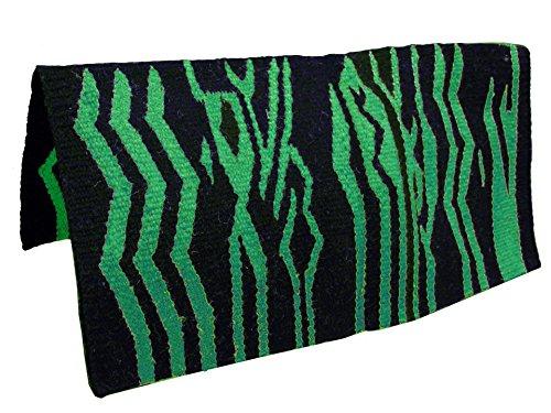 tahoe-tack-wild-zebra-wool-saddle-blanket-green-36-x-34