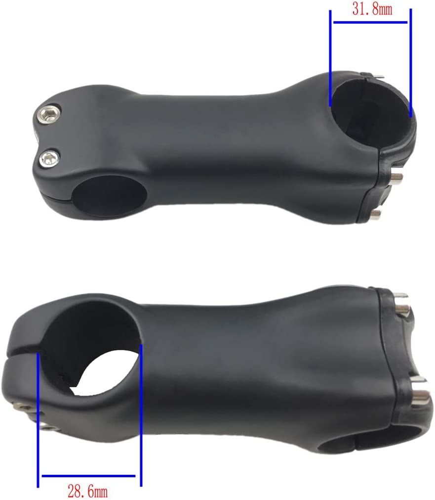 UD Matte 31.8mm Clamp Carbon Stem for MTB Road Bicycle 6 Degree 70//80//90//100mm Full Carbon Bike Stem