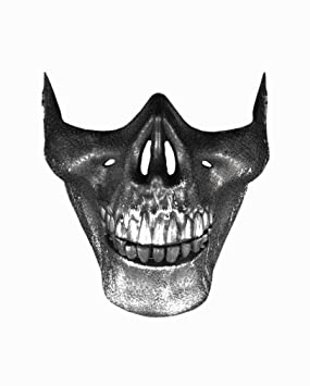 Horror-Shop Totenkenkopf máscara mandíbula de tiburón