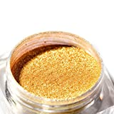 Hunputa Nail art Powder ,ROSALIND Women Nail Art Glitter Mirror Powder Effect Chrome Nails Pigment Gel Polish DIY (Gold)