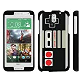 Cheap MINITURTLE Case Compatible w/ HTC Desire 610 , 2 Piece Hard Snap On Case + Screen Protector Film + Black Game Controller