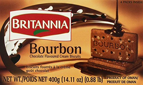 Britannia the Original Bourbon Chocolate Flavoured Cream Biscuits, 13.7 Oz., 390 Grams Cream Chocolate Biscuit
