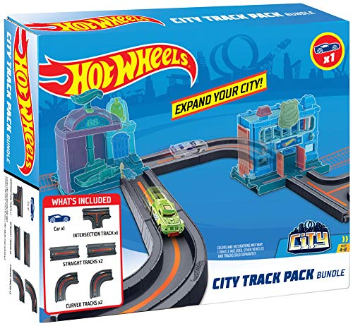 Hot Wheels City Track Pack Bundle (Wheels Fire Station Hot)