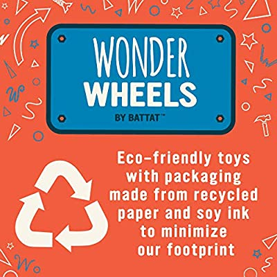 Wonder Wheels by Battat – Camper Van – Toy Truck with Opening Roof & Detailed Interior for Kids Age 1 & Up – 100% Recyclable, Aqua: Toys & Games