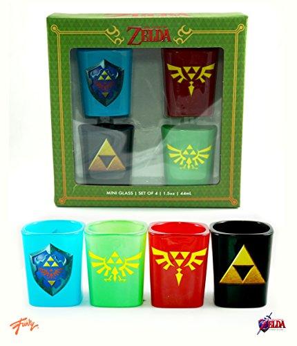 Legend of Zelda Licensed Set of Four 2oz Mini Glasses