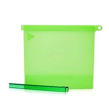 Amazon.com: Bolsa de almacenamiento de silicona reutilizable ...