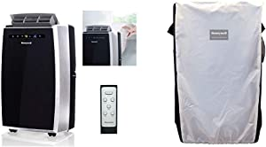 Honeywell MN12CES Portable Air Conditioner, 550 sq. ft, Black/Silver &Pockets Portable ACS Protective Cover, Black