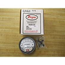 """Dwyer 2010 Magnehelic Differential Pressure Gauge, Type , 0 to 10"""" WC"""